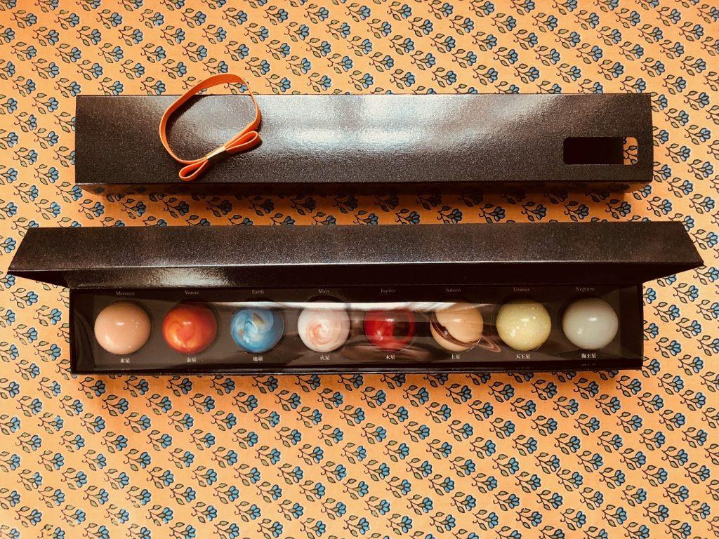太陽系の太陽に近い順に並んでいる惑星ショコラ